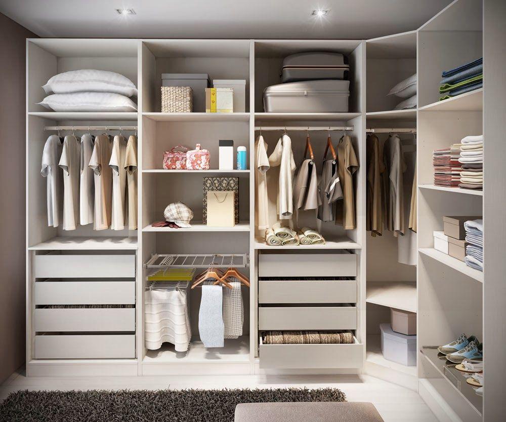 Closets Feminino Masculino Famosos Pequenos Veja Modelos E  ~ Organizacion De Armarios Empotrados