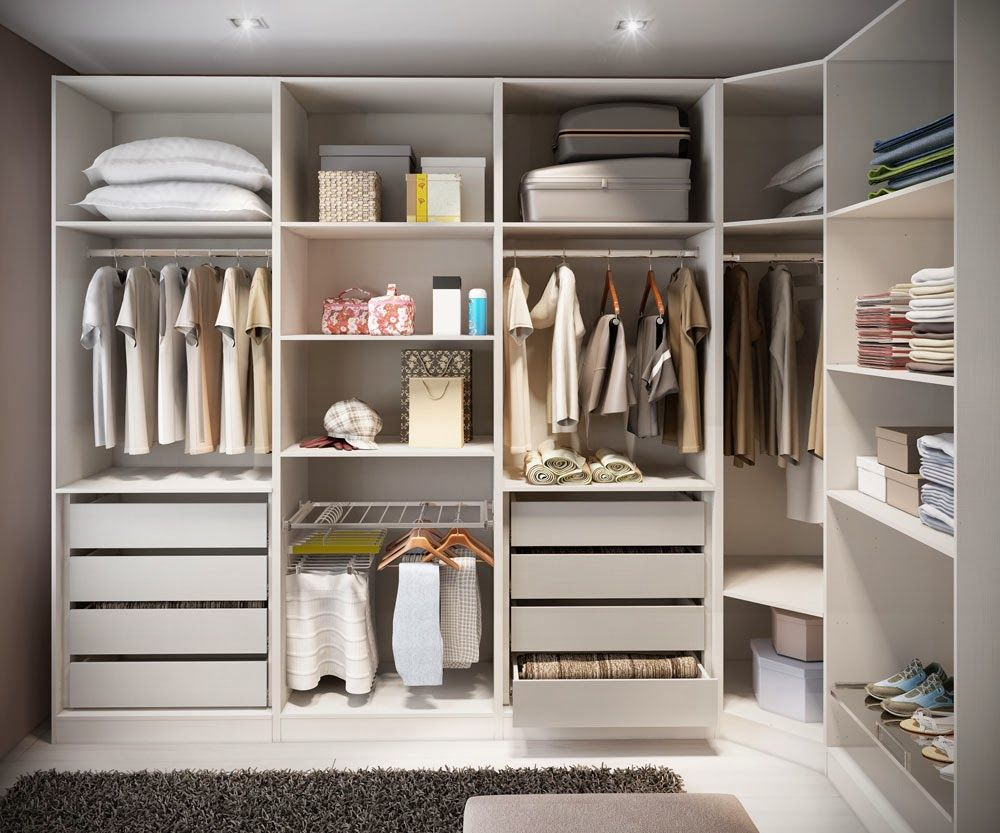 Closets Feminino Masculino Famosos Pequenos Veja Modelos E  ~ Interiores De Armarios Empotrados Ikea