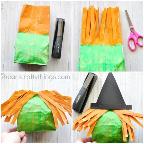 Stuffed Paper Bag Witch Craft Crafts To Make With The Boys