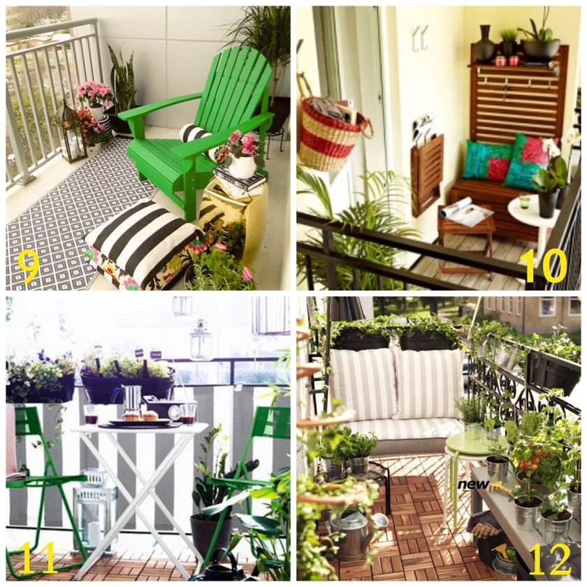 20 inspiring balcony decorating ideas upcycled treasures for Apartment balcony ideas