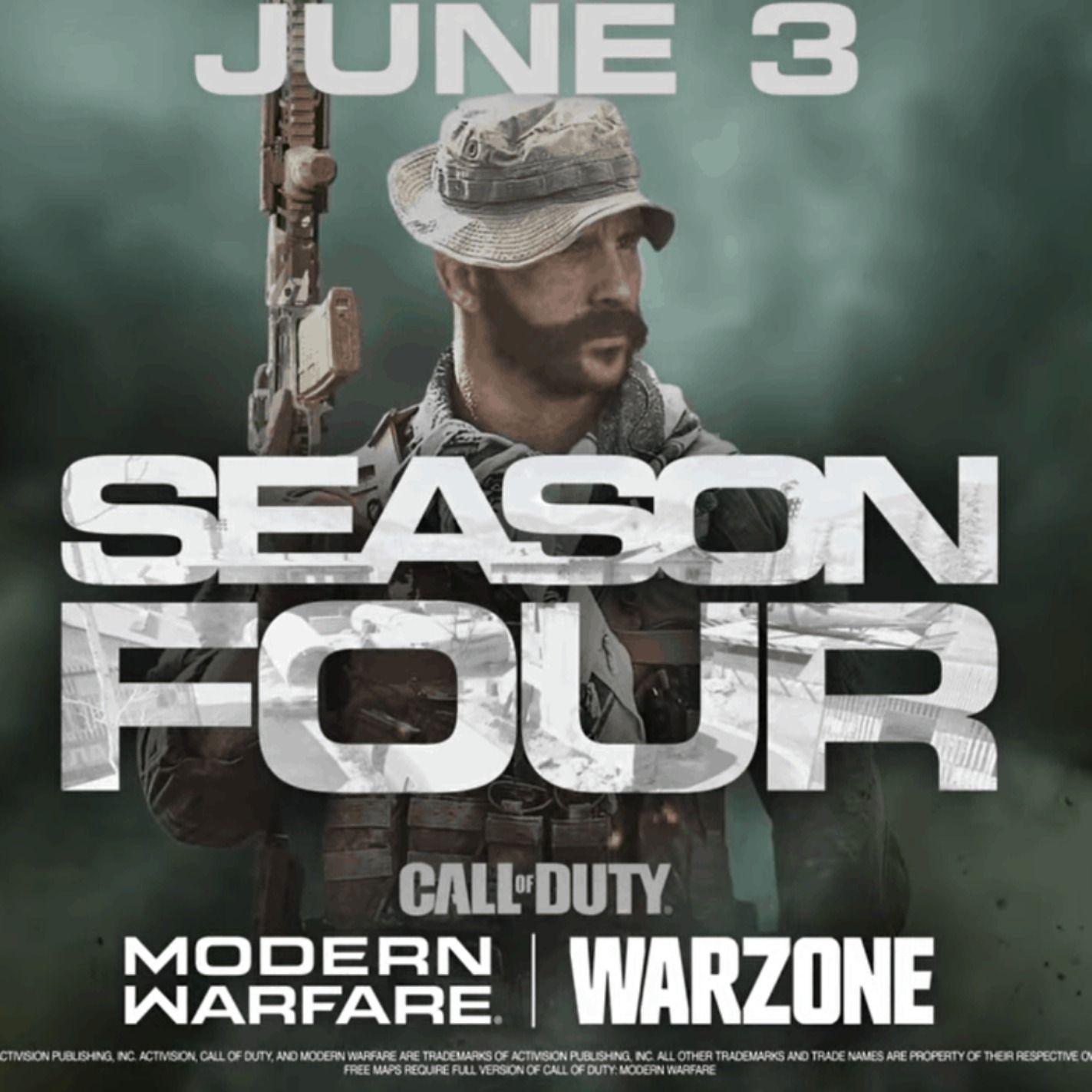 Call Of Duty Warzone Season 4 Coming June 3 In 2020 Call Of Duty Modern Warfare Cod Wars