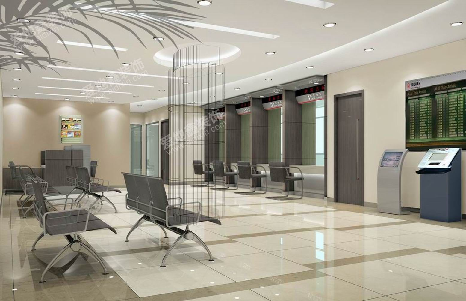 bank interior design | Interior Design  Project NameIndustrial and  Commercial Bank .