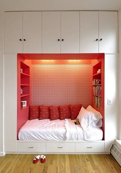 bedroom that I've dreamed of, my bed built into the wall.