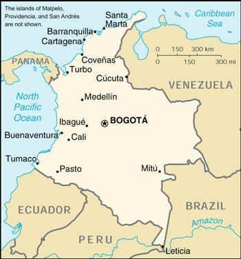 Mapa De Colombia Ciudades.Es La Una Mapa De Colombia Bogota Es Una Ciudad Importante