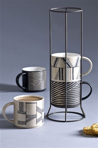 Buy Set Of 4 Stacking Mugs From The Next Uk Online Shop Cutlery