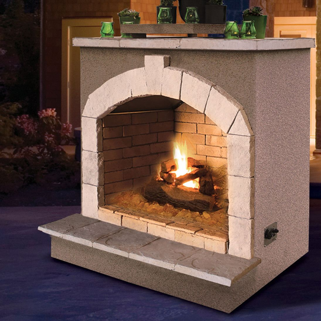 Propane gas outdoor fireplace products pinterest products
