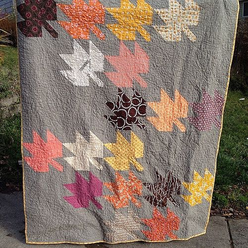 #modernmaples done! In time for the last days of autumn. #goodthings #modernquilting | Flickr - Photo Sharing!