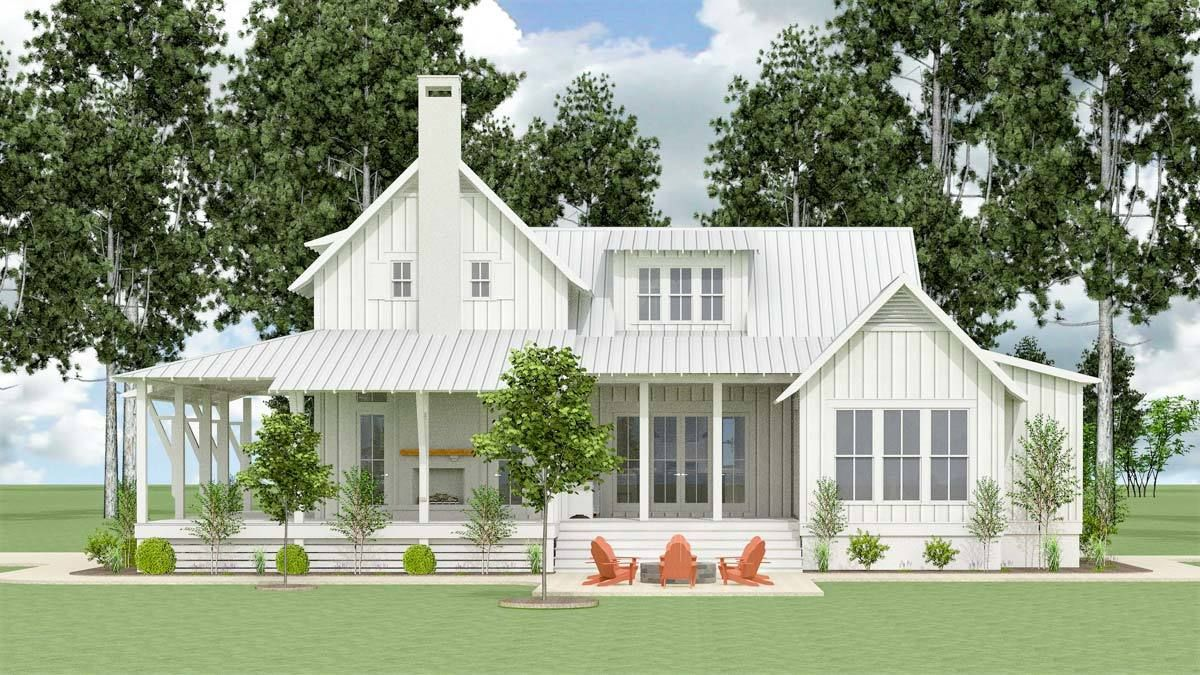 Plan lls exclusive bedroom farmhouse with expansive porches