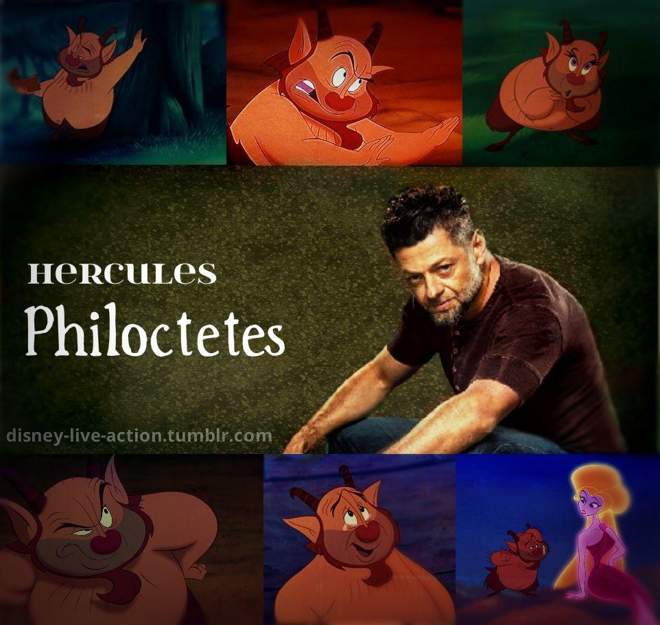 Disney Live Action Dreamcast Hercules Andy Serkis As Philoctetes