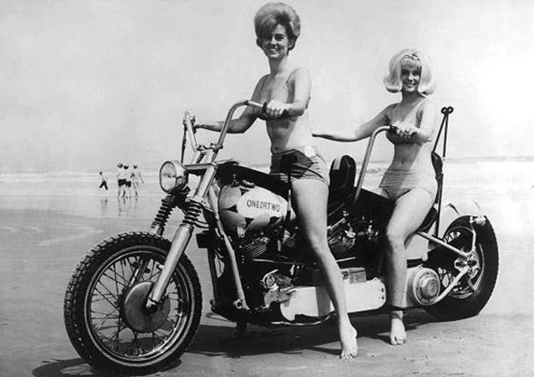 girls motorcycles Vintage on