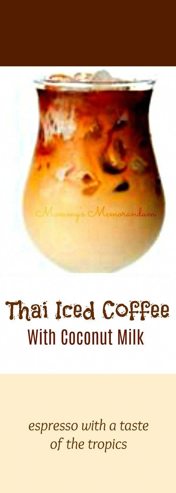 This Thai Iced Coffee recipe combines my love for espresso with a taste of the tropics in coconut milk. Enjoy! MILK,