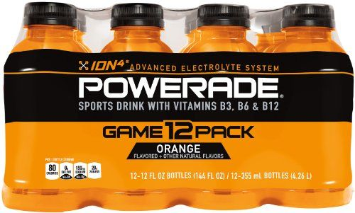 News POWERADE Orange, 12 ct, 12 FL OZ Bottle   buy now     $3.83       Product Description Powerade is formulated with the ION4 Advanced Electrolyte System to help replenish some of the electr... http://showbizlikes.com/powerade-orange-12-ct-12-fl-oz-bottle/