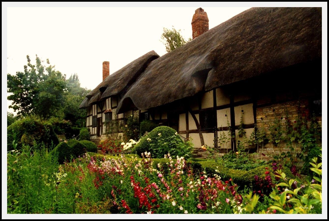 Thatched Roof ) Cottage inspiration, English cottage