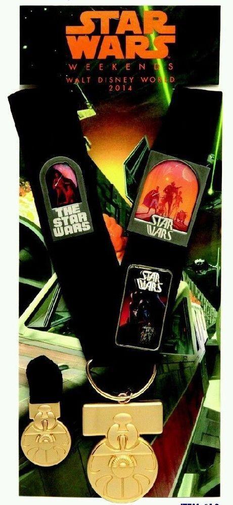 2014 Star Wars Weekends Rebel Rendezvous Lanyard Medal Set & Yavin Completer Pin #disneystarwarsweekends