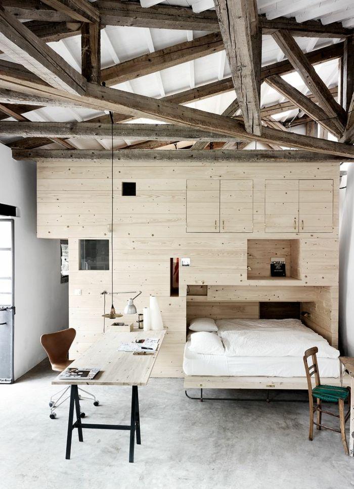 La poutre en bois dans 50 photos magnifiques! Small spaces and Spaces