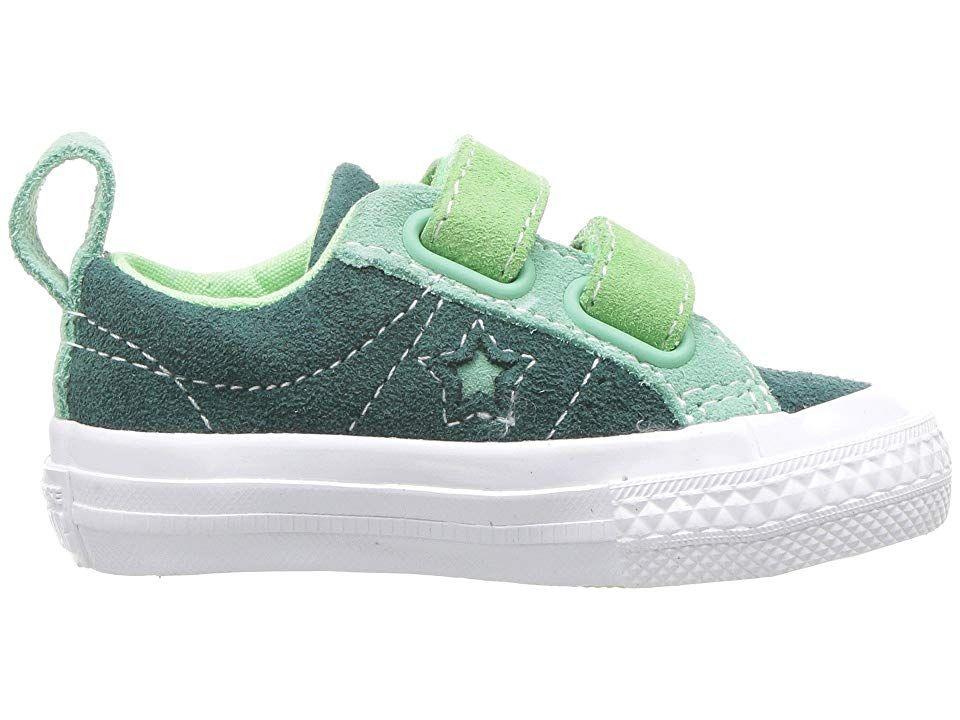 e0fc7e9d6f2f19 Converse Kids One Star 2V - Ox (Infant Toddler) Boys Shoes Ponderosa  Pine Neptune Green Illusion Green