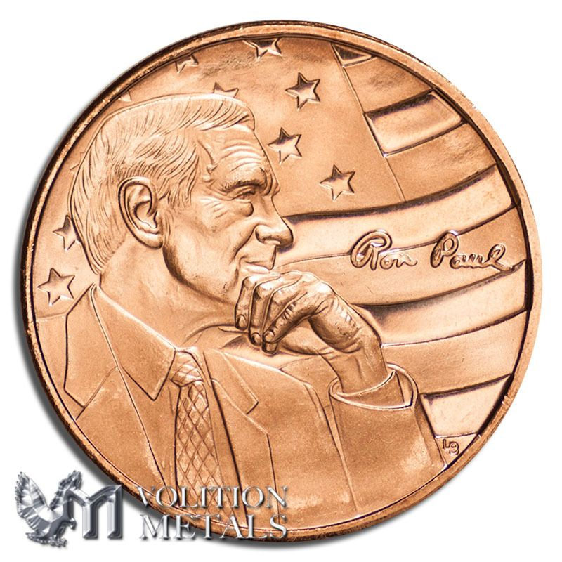 Pin by Volition Metals on Copper Coins, Copper, Ron paul