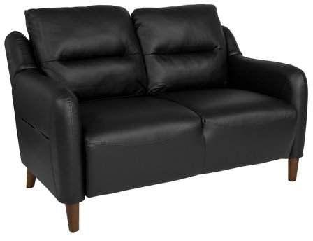 Fabulous Newton Hill Flash Furniture Upholstered Bustle Back Loveseat Machost Co Dining Chair Design Ideas Machostcouk