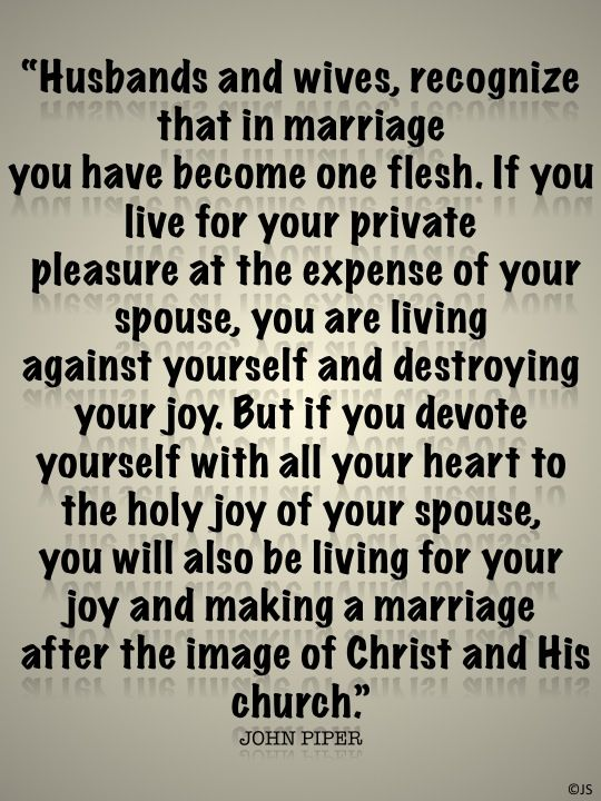 Husbands and wives…