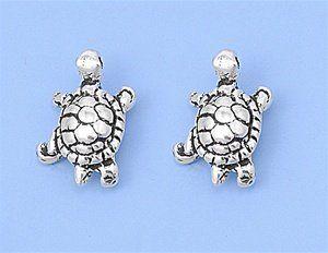 Turquoise Blue Green Animal Zoo Turtle Tortoise Costume Jewellery Stud Earrings