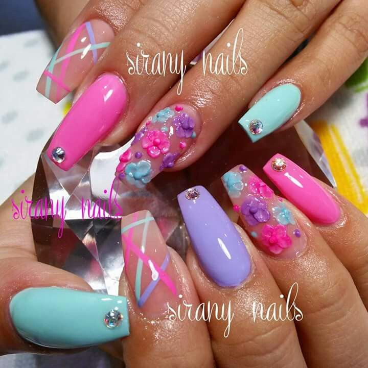 Spring Coffin Nails Coffin Nails Designs Spring Nail Colors