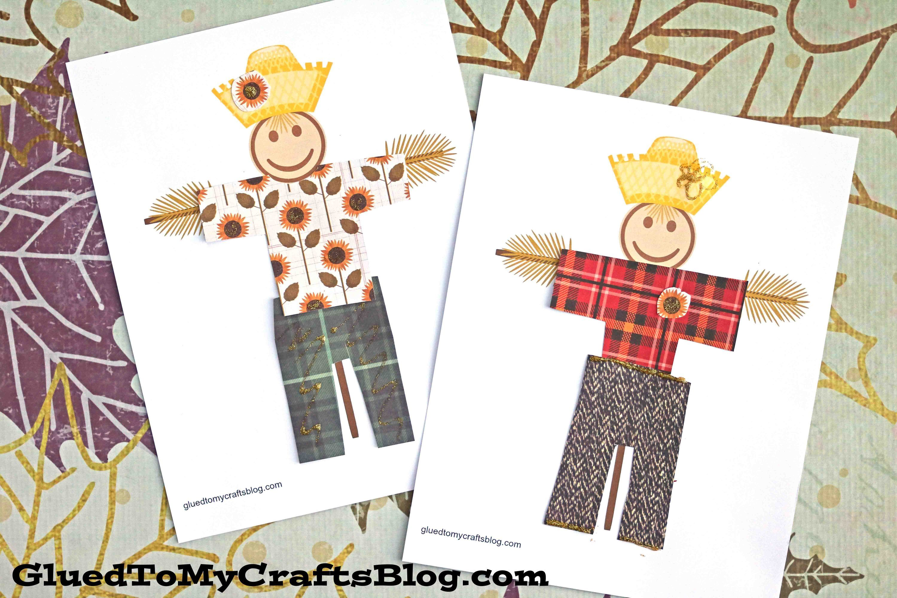 Simple Paper Scarecrow - Free Printable Template | Pinterest ...