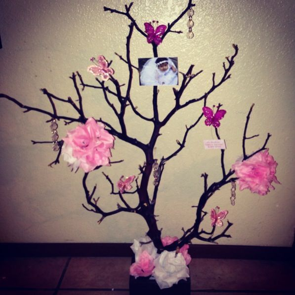 Manzanita Tree Centerpiece Perfect For A Baptism Quinceañera Wedding Or Any Special Event