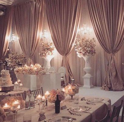 So Classy And Elegant Wedding Reception Hall Wedding Decorations Wedding Reception Head Table