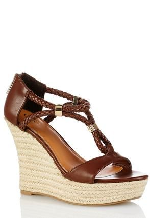 5217e236d5d7 Cato Fashions Braided Rope Wedges  CatoFashions