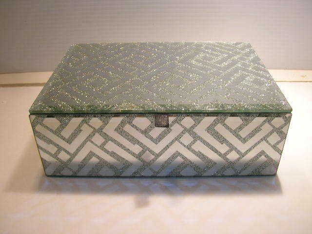 Nicole Miller Jewelry Box Classy MIRRORED AND GLITTER NICOLE MILLER JEWELRY KEEPSAKE BOX
