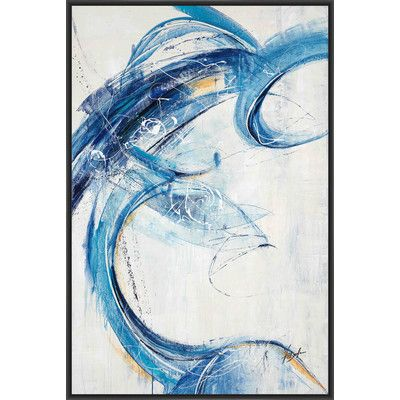 PTM Images Blue Sleep Framed Painting Print on Canvas