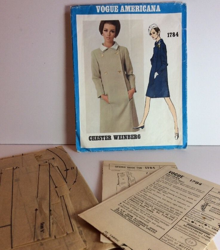 Vogue Americana Sewing Pattern 1784 Chester Weinberg 16 Vtg 1967 One ...