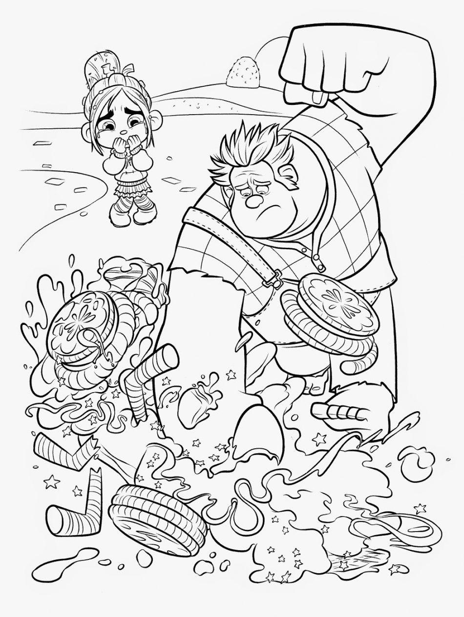 Ralph Wrecks Vanellope S Kart Disney Coloring Pages Cartoon Coloring Pages Disney Princess Coloring Pages