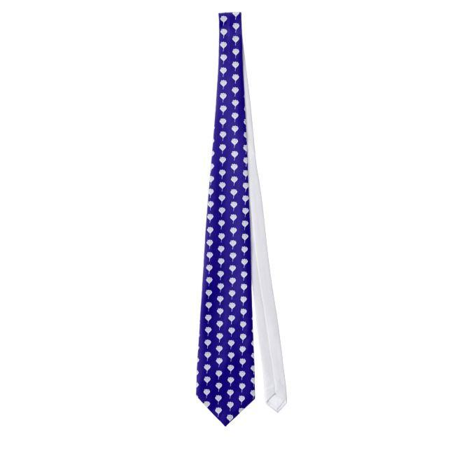 Crocus pattern neck tie |  Crocus pattern neck tie
