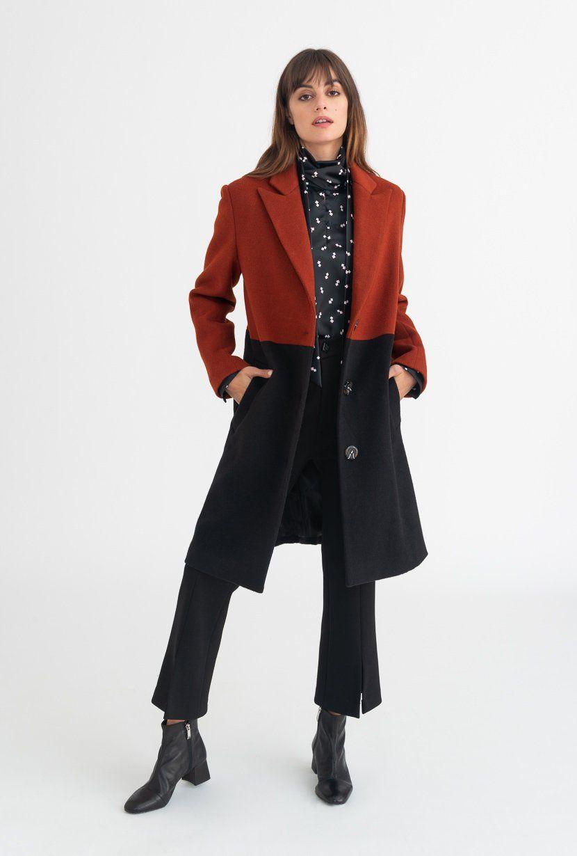 Demi Coat Outerwear Petite Studio Maroon Coat Fashion Wishlist Coat [ 1230 x 830 Pixel ]