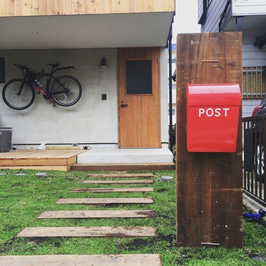 可愛いおしゃれポスト やっぱり郵便受けは赤でしょ Okelife