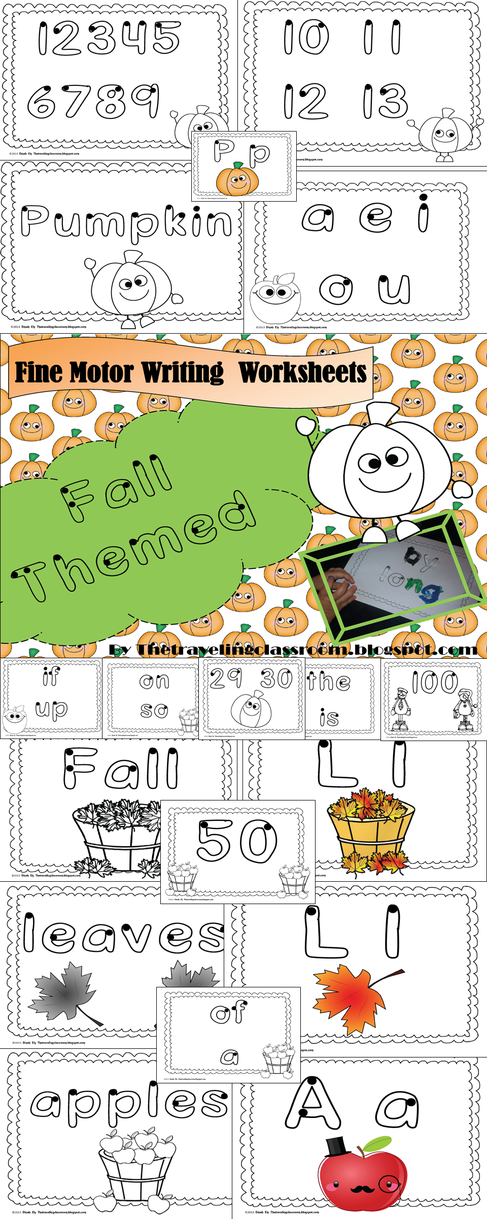 P is for Pumpkins! Fall themed reading and writing