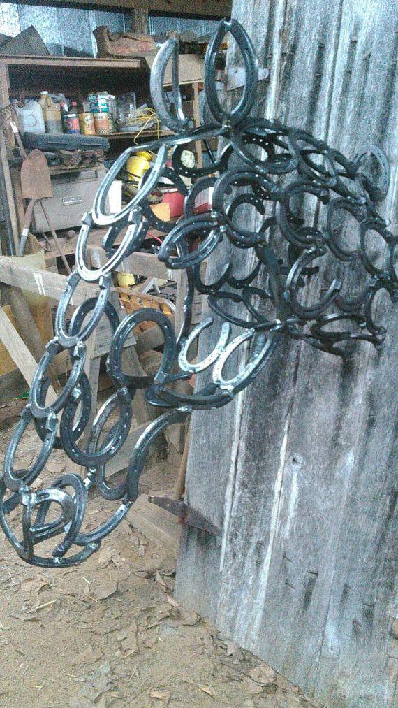 Horseshoe Horse Head Horseshoe Horse Head Horseshoe Art