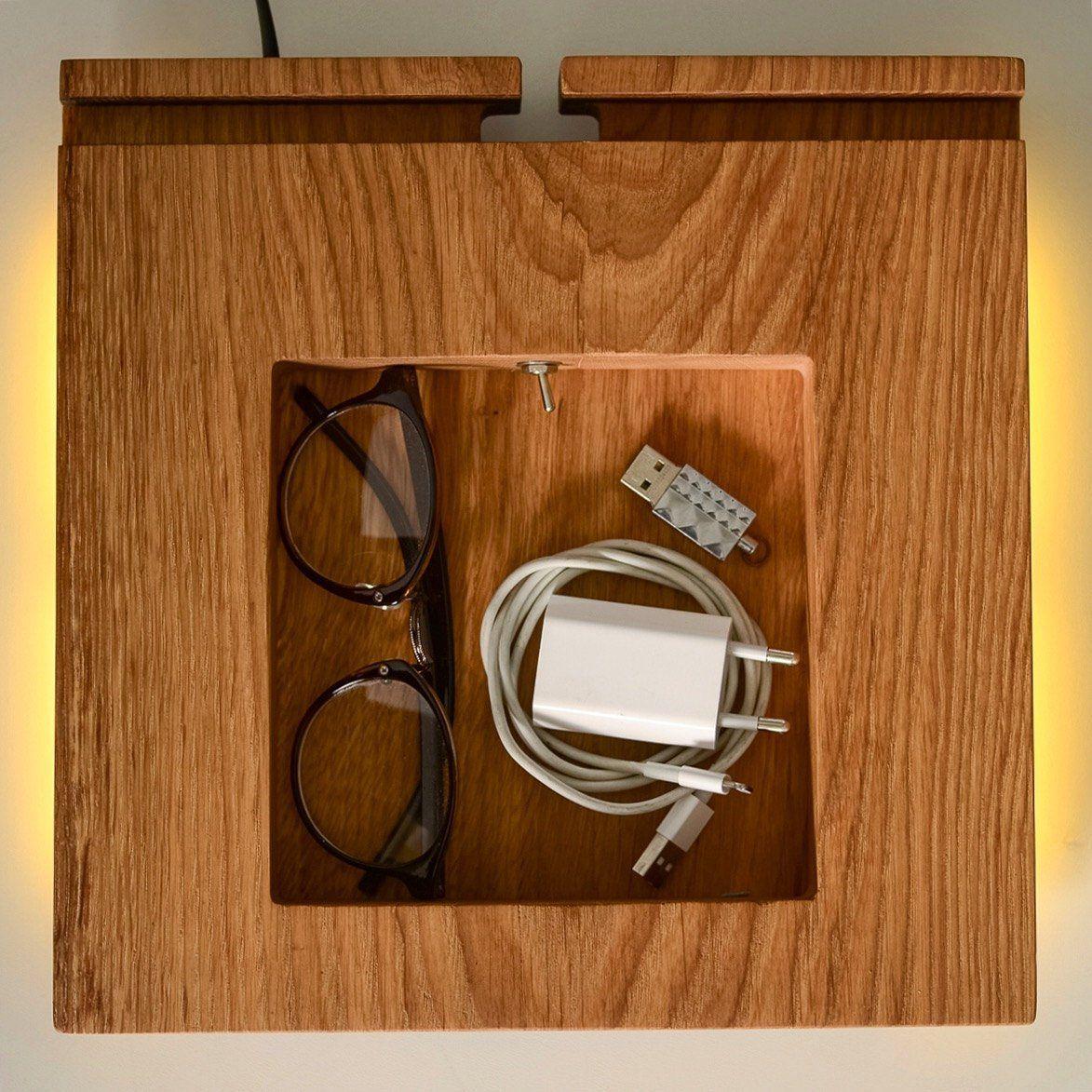docking station table lamp DOCK#404 handmade. minimal. oak