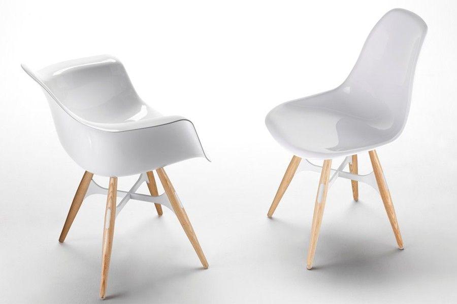 Design stoel zigzag wit kub g pixels meubilering