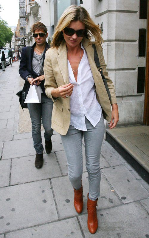 Kate Moss | How to wear blazers, Affordable fashion clothes