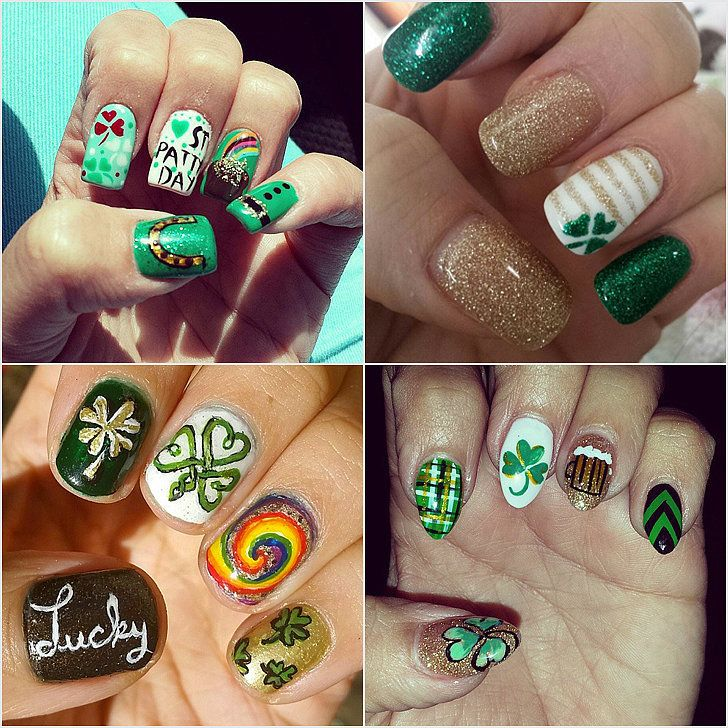 30 St. Patrick\'s Day Nail Art Ideas to Copy From Instagram   Finger ...