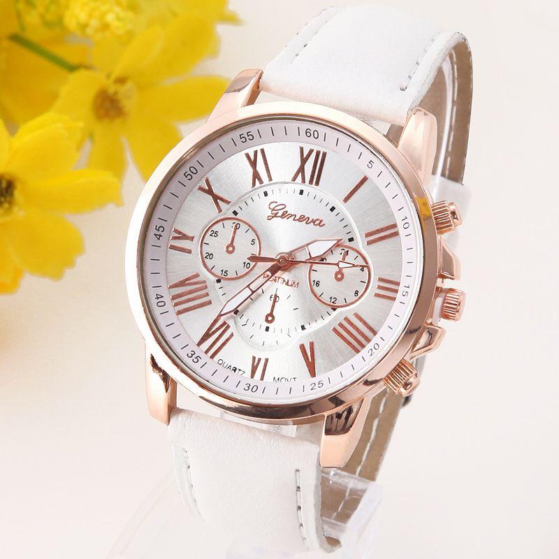 3d38bbd7992 nice Geneva Platinum Watch Women PU Leather wristwatch casual dress reloj  ladies gold gift Fashion Romantic