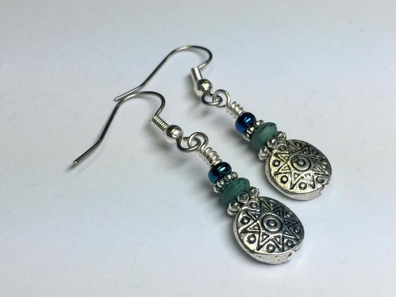 Mother/'s Day Gift Surgical Steel French Hook Earrings Dangle Earrings Light Aqua Wire Hook Drop Earrings