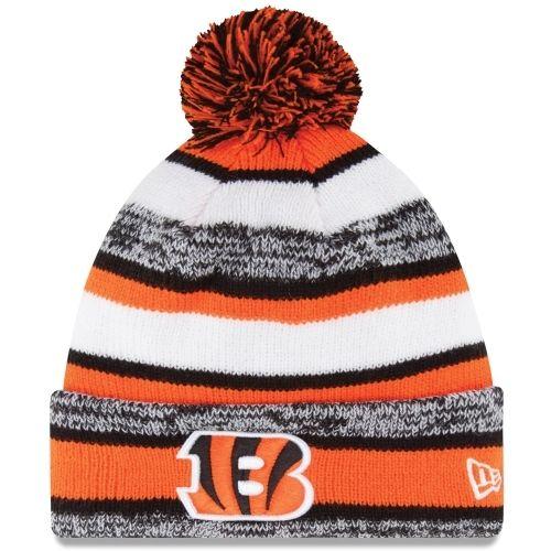 317ab258baf Cincinnati · Cincinnati Bengals New Era On-Field Sport Sideline Cuffed Knit  Hat ...