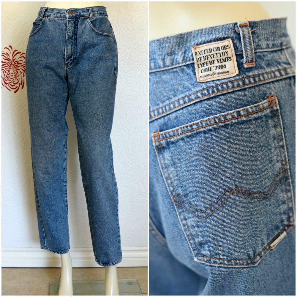 cheap for discount 8a806 e6e9f Vintage Benetton Jeans | Highwaisted Mom Jeans | 90s Jeans ...