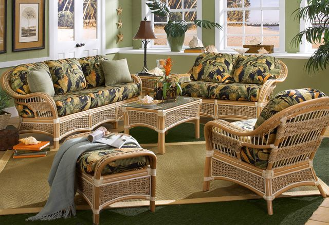 Islander Rattan Furniture Set Scaling Down Just A Little Does Not Mean A Sacrifice In Seating Indoor Wicker Furniture Indoor Rattan Furniture Sunroom Furniture