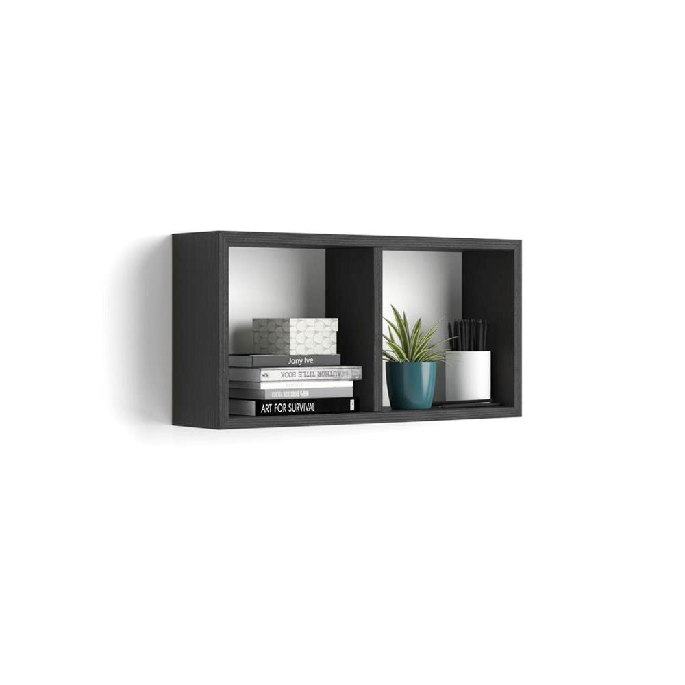 Wall Mounted Cube Shelves First Laminate Faced Black Ash Mobili Fiver Cube Shelves Shelves Cube