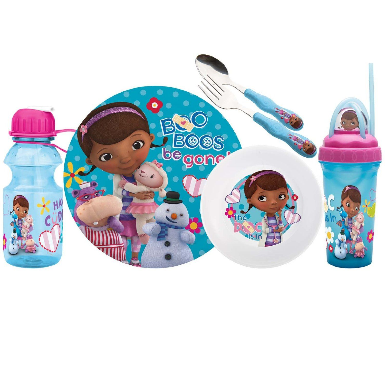 Amazon.com: Zak Designs Disney 6-Piece Kids Mealtime Set, Doc Mc ...