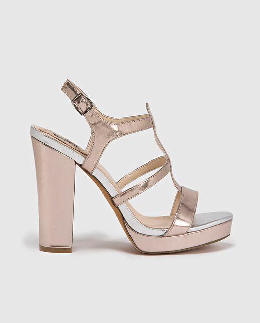 9cc14193d Sandalias de tacón de mujer Fórmula Joven negras | Zapatos de fiesta